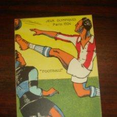 """Postales: RARA Y ANTIGUA TARJETA POSTAL EN COLOR JEUX OLYMPIQUES. PARIS 1924. """"FOOTBALL"""". Lote 41797245"""