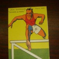 "Postales: RARA Y ANTIGUA TARJETA POSTAL EN COLOR JEUX OLYMPIQUES. PARIS 1924. ""COURSE DE HAIES"". Lote 41797288"