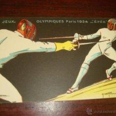 "Postales: RARA Y ANTIGUA TARJETA POSTAL EN COLOR JEUX OLYMPIQUES. PARIS 1924. ""ÉPÉE"". Lote 41797461"