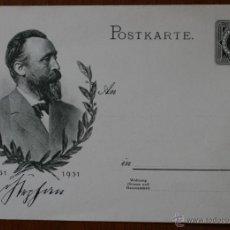 Postales: ANTIGUA TARJETA POSTAL CONMEMORATIVA ALEMANIA: POSTKARTE 1831 - 1931 - COLECCIONISTAS. Lote 42218900