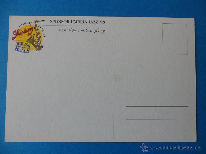 Postales: Sponsor Umbria Jazz ´98 / Smoking Papel de fumar ---- Italia - Foto 2 - 42462076
