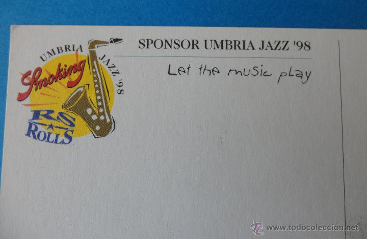 Postales: Sponsor Umbria Jazz ´98 / Smoking Papel de fumar ---- Italia - Foto 3 - 42462076