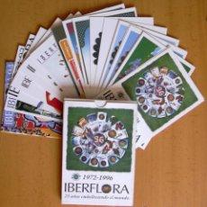 Postales: IBERFLORA - 25 AÑOS EMBELLECIENDO AL MUNDO, 1972-1996 - ESTUCHE CON 26 POSTALES NUEVAS. Lote 42812098