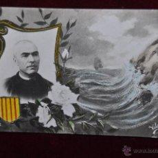 Postales: ANTIGUA POSTAL CONMEMORATIVA DE JACINTO VERDAGUER. FIRMADO VILÀS. CIRCULADA. Lote 43088341