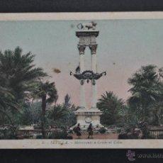 Postales: ANTIGUA POSTAL DE SEVILLA. MONUMENTO A CRISTOBAL COLÓN. FOT. L. ROISIN. SIN CIRCULAR. Lote 43673032