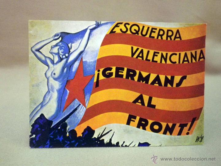 POSTAL POSTAL CONMEMORATIVA, ESQUERRA VALENCIANA, JDP, 10 X 15 CM (Postales - Postales Temáticas - Conmemorativas)