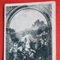 Postales: ANTIGUA POSTAL BATALLA DE CLAVIJO. PINTURA AL FRESCO EN IGLESIA S. FRANCISCO EL GRANDE (MADRID). Lote 45161704