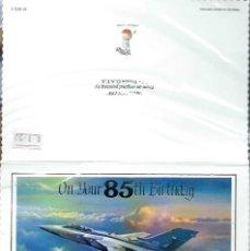 Postales: TARJETA POSTAL EN INGLÉS CONMEMORATIVA 85 ANIVERSARIO - CON UN AVION JET EN PORTADA MOONGLOW. Lote 45326240