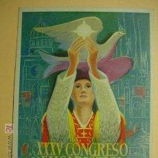 Postales: 7561 BARCELONA XXXV CONGRESO EUCARISTICO INTERNACIONAL 1952 PRECIOSA COSAS&CURIOSAS. Lote 3692142