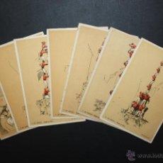 Postales: LOTE DE 7 POSTALES DELS XIQUETS DE VALLS (TARRAGONA). CASTELLERS. IMP. CASTELLS. Lote 45493640