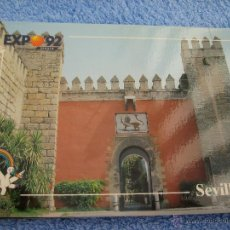 Postales: POSTAL COLECCION EXPO 92.- ENTRADA REALES ALCAZARES.. SEVILLA. NUM. 52. Lote 45534625