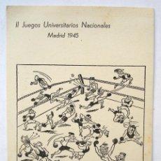 Postales: POSTAL II JUEGOS UNIVERSITARIOS NACIONALES. MADRID 1945. SIN CIRCULAR. Lote 45671184