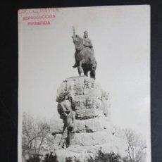Postales: ANTIGUA FOTO POSTAL DEL MONUMENTO A JAUME I DE PALMA DE MALLORCA. SELLO DEL FOTOGRAFO JOSE VILA COLL. Lote 45957443