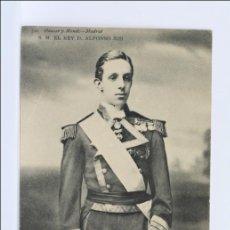 Postales: POSTAL Nº 749 DE HAUSER Y MENET, SM EL REY D. ALFONSO XIII - SIN CIRCULAR, REVERSO SIN DIVIDIR. Lote 47892721