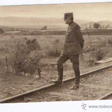 Postales: EN MACÉDOINE. LE GÉNÉRAL SARRAIL, COMMANDANT L'ARMÉE ALLIÉE, DEVANT LE VARDAR.. Lote 20988391