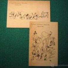 Postales: 2 TARJETAS POSTALES DE LOS II JUEGOS UNIVERSITARIOS NACIONALES. MADRID 1945. L64. Lote 48209067
