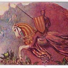 Postales: BARCELONA. CATALUNYA. 1208-1908.ALEGORÍA CATALANISTA ILUSTRADA POR RAMON CASAS. SIN CIRCULAR. Lote 49127009