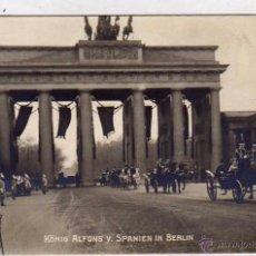 Postales: POSTAL FOTOGRÁFICA, VISITA DEL REY ALFONSO XIII A BERLIN. VISITA REY DE ESPAÑA. SIN CIRCULAR.. Lote 51955900
