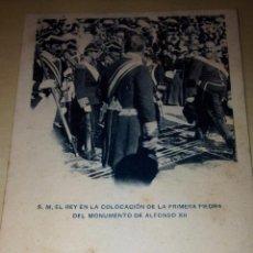 Postales: S.M ALFONSO XII. COLECCIÓN FIESTAS REALES EN MAYO 1902. DR H. LEYDEN. Lote 54301194