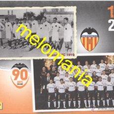 Postales: POSTAL VALENCIA CF 1919/2009_90 ANYS_18 DE MARZO DE 2009 NUEVA!!!. Lote 54380976