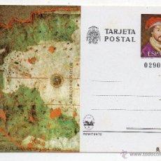 Postales: TARJETA POSTAL: CARTA DE JUAN DE LA COSA 1500. TEMÁTICA BARCOS.. Lote 54447557