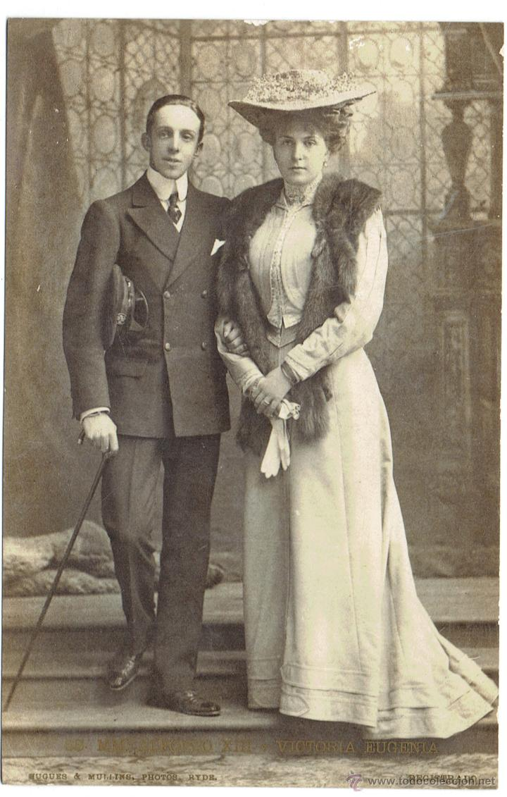 Postales: PS5958 SS. MM. ALFONSO XIII Y VICTORIA EUGENIA. BUGUES AND MULLINS PHOTOS. SIN CIRCULAR - Foto 1 - 51640043