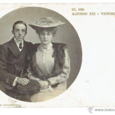 Postales: PS5961 SS. MM. ALFONSO XIII Y VICTORIA EUGENIA. FOTOGRÁFICA. HUGUES AND MULLINS. SIN CIRCULAR. Lote 51640412
