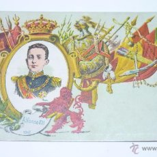 Postales: COL. REYES DE ESPAÑA. CALLEJA. MADRID 1902. Nº 1. ALFONSO XIII. Lote 54962632