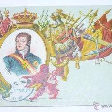 Postales: COL. REYES DE ESPAÑA. CALLEJA. MADRID 1902. Nº 7. FERNANDO VII. Lote 54962752