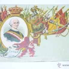 Postales: COL. REYES DE ESPAÑA. CALLEJA. MADRID 1902. Nº 9. CARLOS III. Lote 54962795