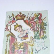 Postales: COL. REYES DE ESPAÑA. CALLEJA. MADRID 1902. Nº 6. MARIA CRISTINA DE BORBÓN. Lote 54962851