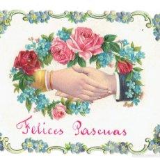 Postales: PS6492 FELICITACIÓN DE PASCUAS. TROQUELADA. ESPAÑA. PRINC. S. XX. Lote 55098548