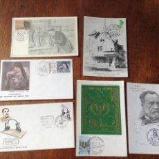 Postales: POSTALES FRANCESAS CONMEMORATIVA DIA DEL SELLO. AÑOS 80. Lote 56310720