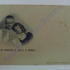 Postales: SS AA OS PRINCIPES D. LUIZ E D. MANUEL. ED. TABACARIA. Lote 57082309