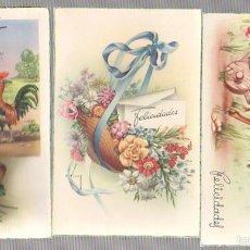 Postales: LOTE DE 3 TARJETAS POSTALES FELICIDADES. AÑOS 50. Lote 57209825