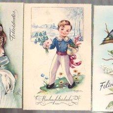 Postales: LOTE DE 3 TARJETAS POSTALES FELICIDADES. AÑOS 50. Lote 57209926