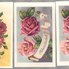 Postales: LOTE DE 3 TARJETAS POSTALES FELICIDADES. AÑOS 50. Lote 57209981