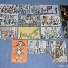 Postales: LOTE 14 POSTALES FABRICA NACIONAL MONEDA Y TIMBRE - SERVICIO NACIONAL DE LOTERIAS 1974 - SERIE B - C. Lote 58518363