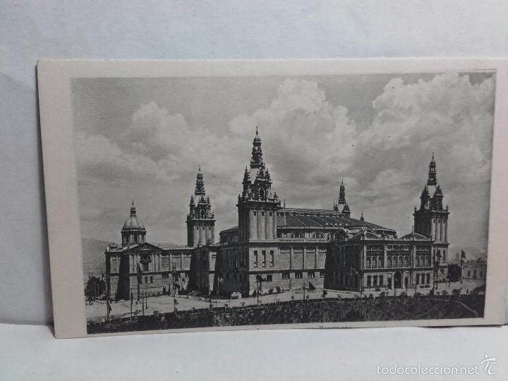 TARJETA POSTAL-EXPOSICION INTERNACIONAL DE BARCELONA-1929-CON PROPAGANDA EN REVERSO (Postales - Postales Temáticas - Conmemorativas)