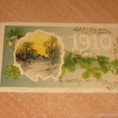 Postales: POSTAL DE FELIZ AÑO NUEVO 1910. Lote 58601231