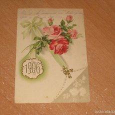 Postales: POSTAL DE FELIZ AÑO NUEVO 1906. Lote 58601249