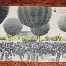 Postales: POSTAL DE BODAS REALES, N. 7, MONARQUIA, CONCURSO GLOBOS AEROSTATICO, FOT. LACOSTE. NO CIRCULADA.. Lote 59880727