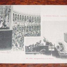 Postales: POSTAL DE BODAS REALES, N. 15, MONARQUIA, CORRIDA REGIA, ALFONSO XIII, FOT. LACOSTE. NO CIRCULADA.. Lote 59881075