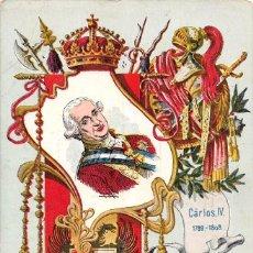 Postales: COLECCIÓN REYES DE ESPAÑA.- CARLOS IV- SATURNINO CALLEJA. Lote 60836507