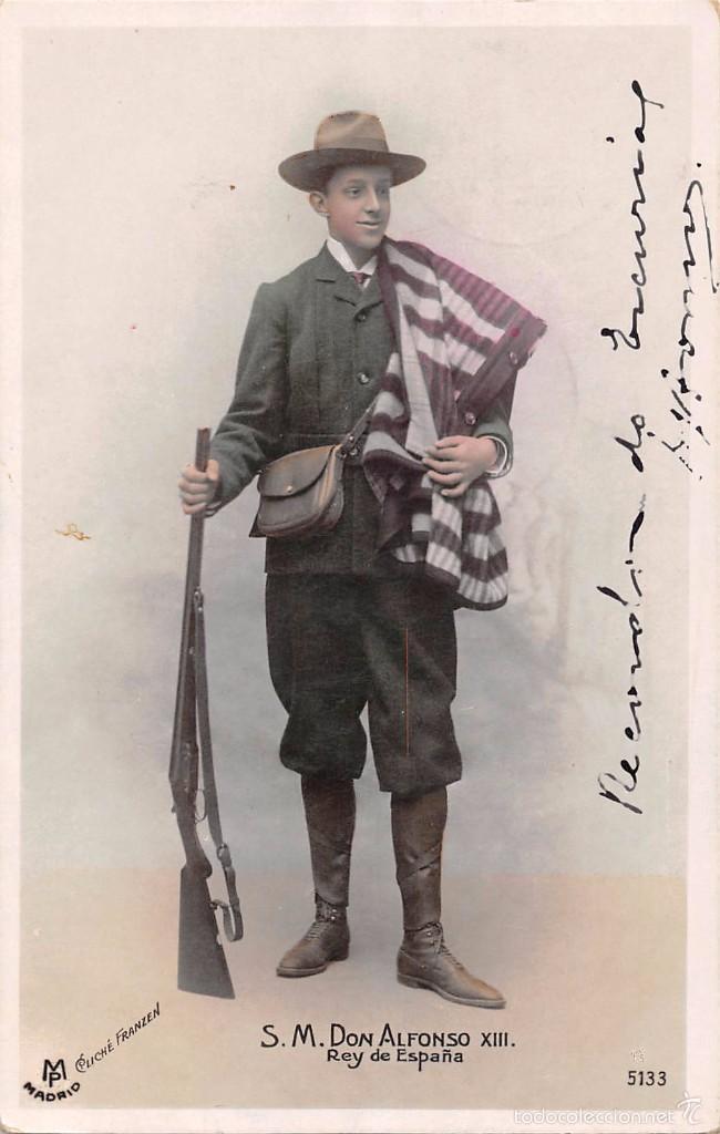 S.M. DON ALFONSO XIII.-REY DE ESPAÑA- CLICHÉ FRANZEN (Postales - Postales Temáticas - Conmemorativas)