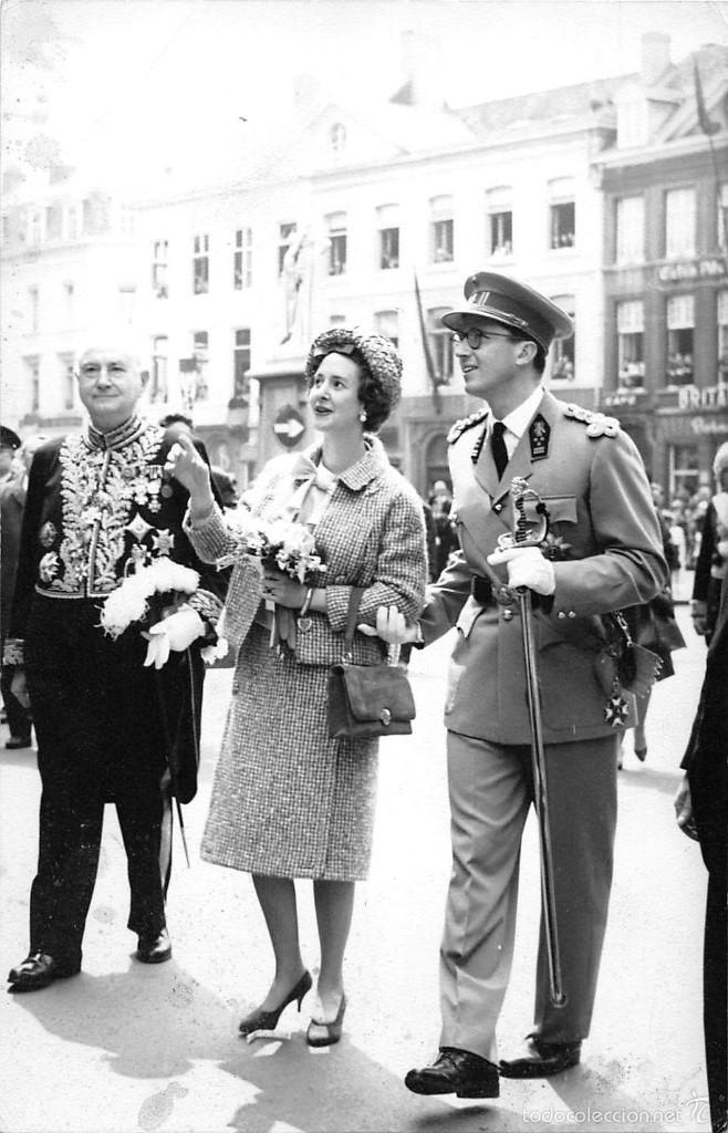 REYES BELGAS EN VISITA A GANTE-AÑO 1962 (Postales - Postales Temáticas - Conmemorativas)