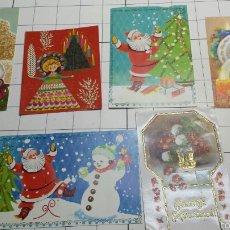 Postales: ANTIGUAS Y ESPECTACULARES POSTALES FELICITACIONES DE NAVIDAD AÑOS 70. Lote 61289085