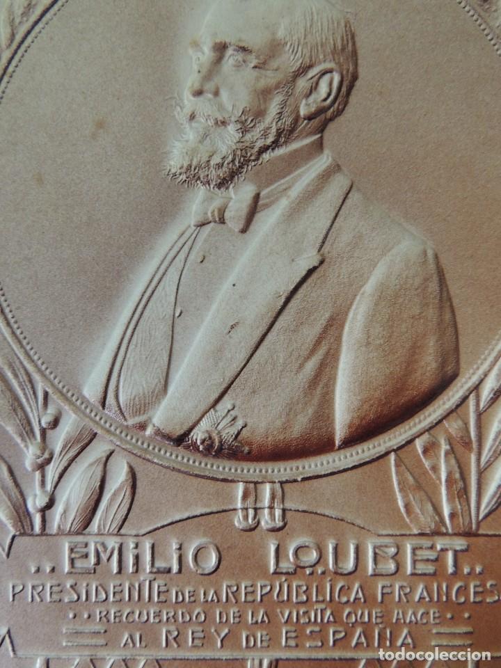 Postales: postal en relieve visita del presidente emilio loubet 1905 - Foto 2 - 62445884