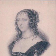Postales: POSTAL ENRIQUETA DE INGLATERRA PRINCESA INGLESA Y DUQUESA DE ORLEANS. 1644-1670. Lote 65048971