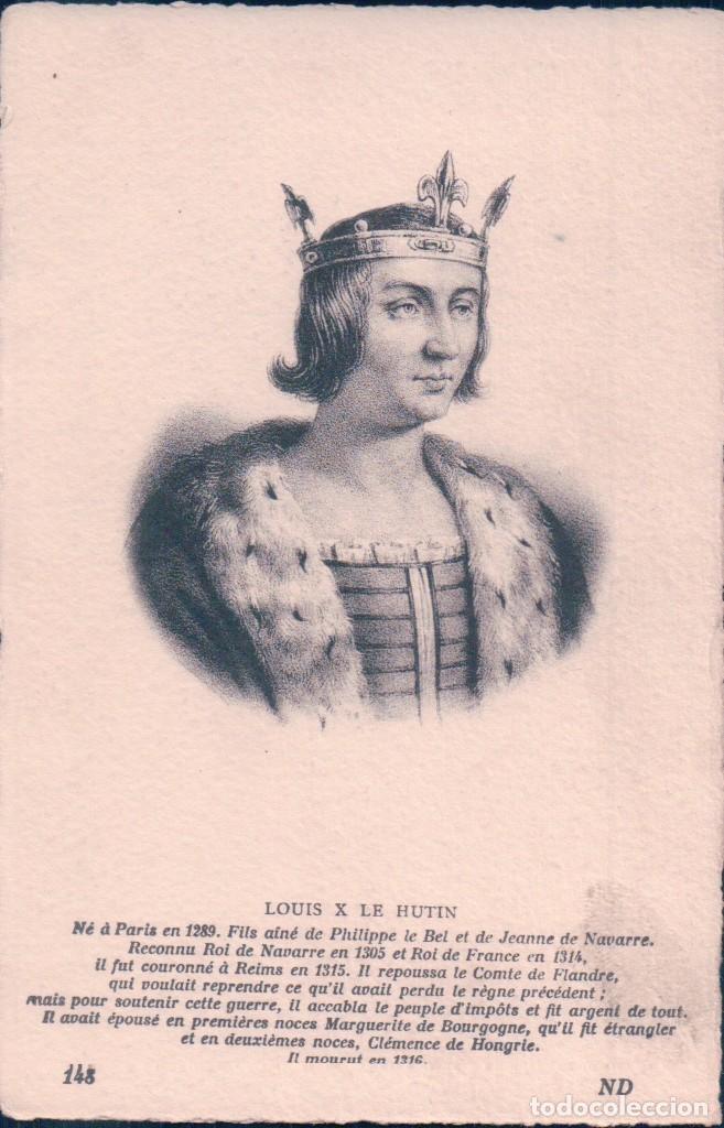 POSTAL LUIS X DE FRANCIA LLAMADO LUIS EL OBSTINADO. 1305-1314 (Postales - Postales Temáticas - Conmemorativas)
